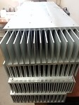 "Large heatsinks 11"" wide x 14"" long x 3 3/4"" deep"
