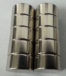 Ten 3/8 IN X 2/10 IN NEODYMIUM RARE EARTH MAGNETS