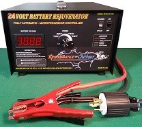 RC-15A24-240 24V Industrial Rejuvenator Charger with Load Cycling feature