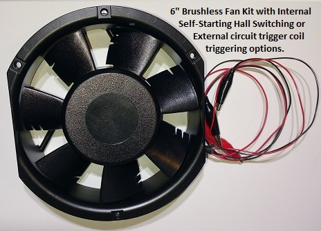 6 Inch Brushless Fan Negative Energy Kit